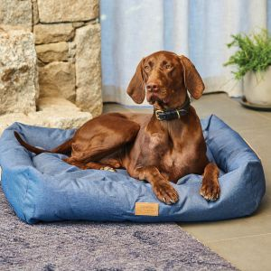 WeatherBeeta Square Denim Dog Bed
