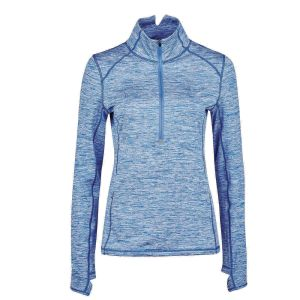 Dublin Violet Half Zip Long Sleeve Top