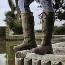 All Sizes//Widths Dublin Waterproof Leather Country River Boots FREE NIKWAX GIFT Chocolate: Wide: Adults 4