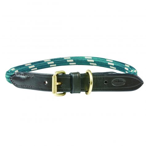 WeatherBeeta Rope Leather Dog Collar