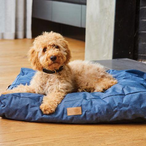 WeatherBeeta Pillow Denim Dog Bed