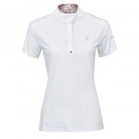 Dublin Andrea Short Sleeve Competition Printed Inner Collar Shirt