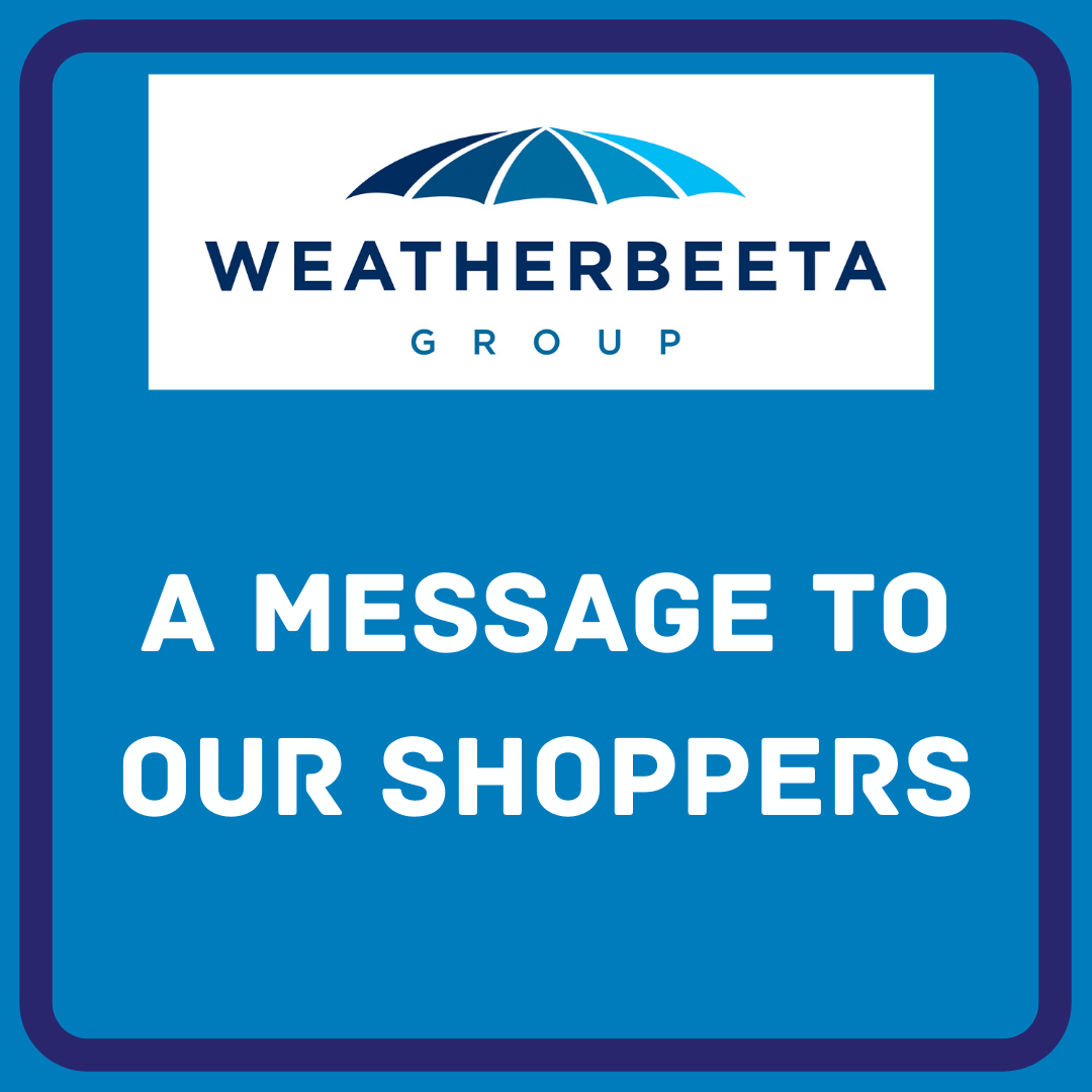 A message to our Shoppers