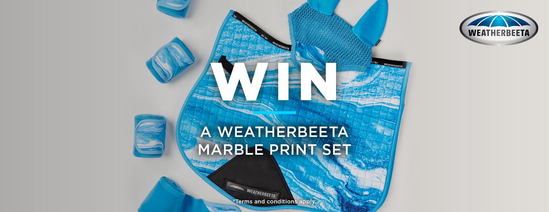 weatherbeeta marble print giveaway