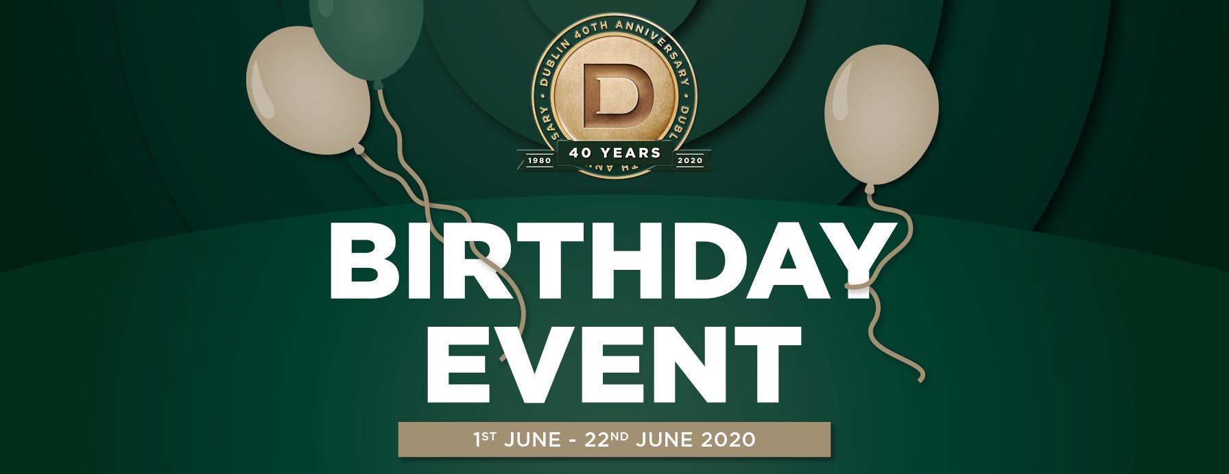 40th Birthday Event