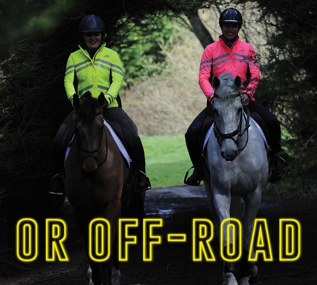 weatherbeeta reflective hi-viz range riding off road