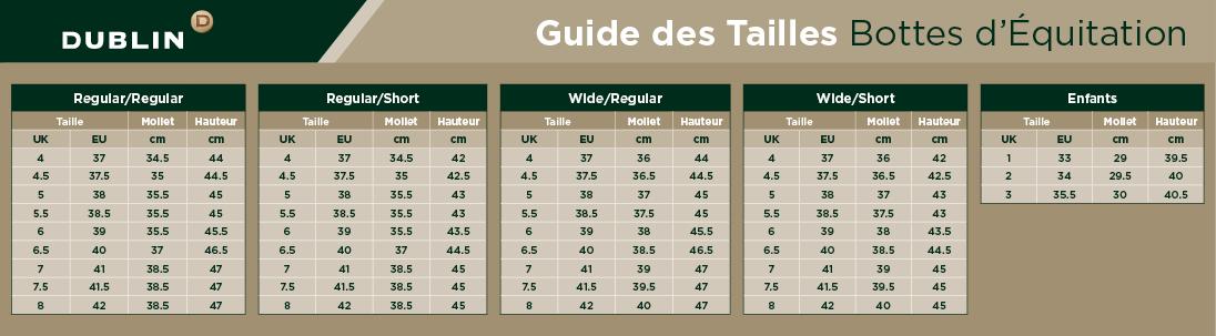 Guide des Tailles de Bottes d'Équitation