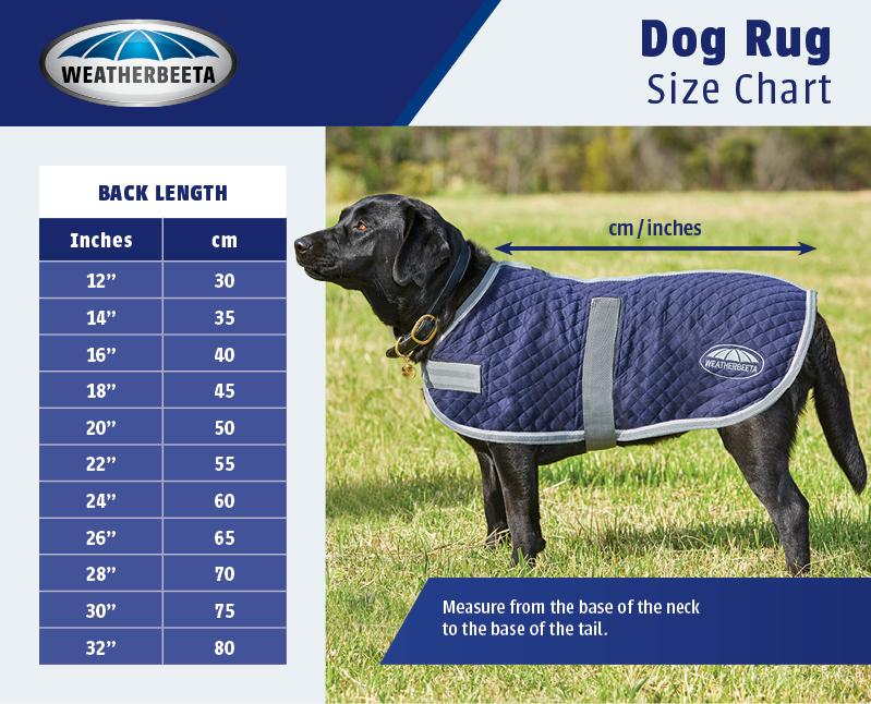 WeatherBeeta Dog Coat Sizing