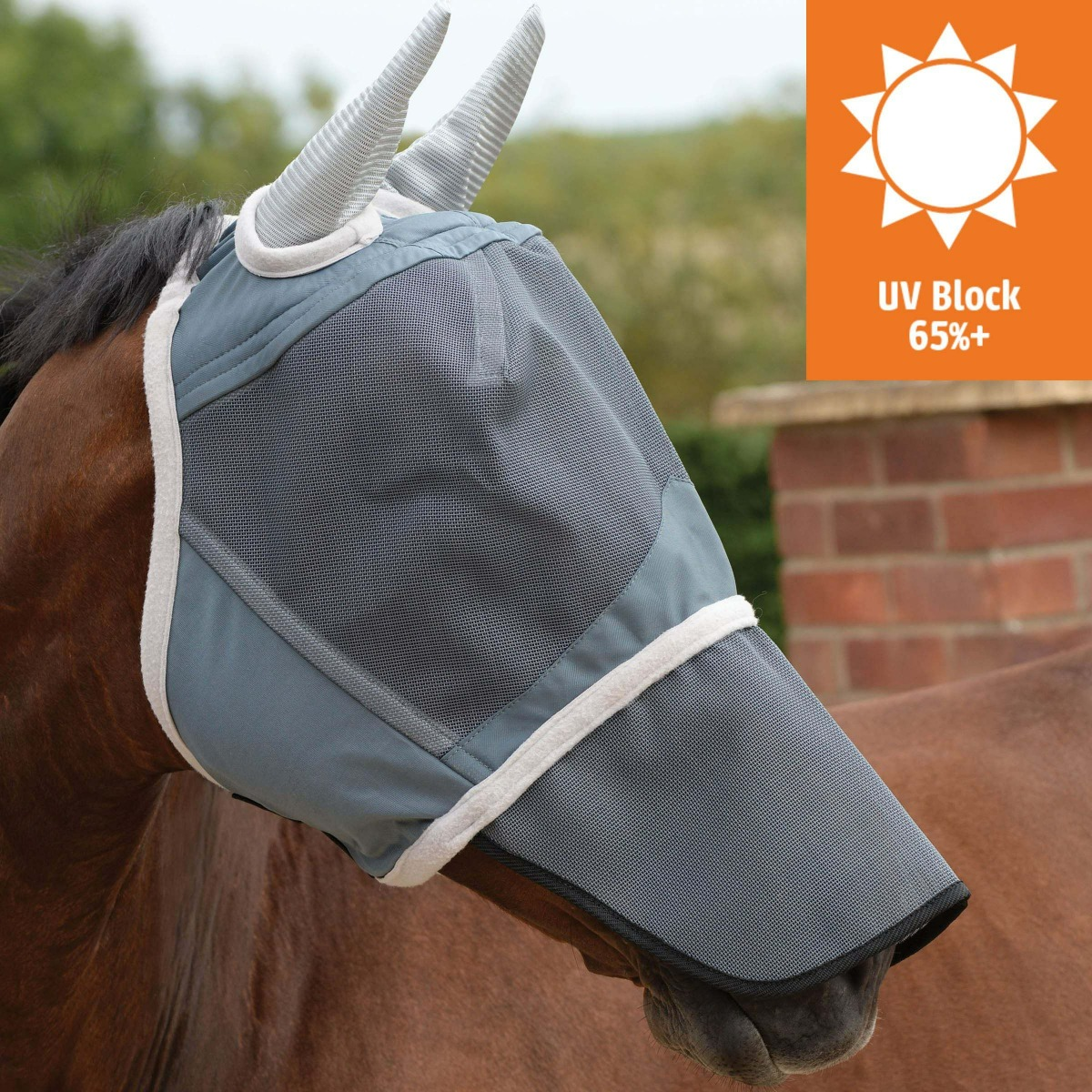 fly mask with UV protection