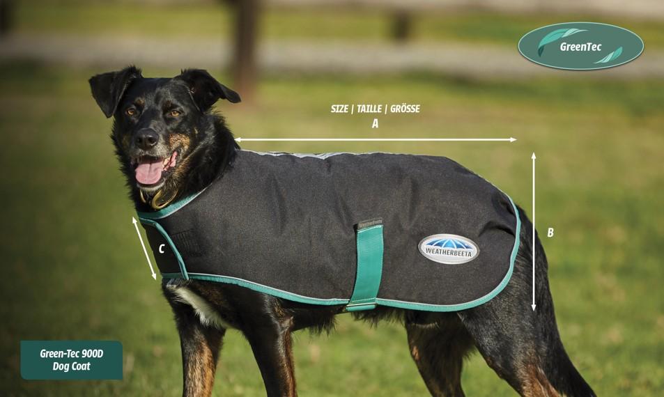 weatherbeeta green tec dog coat