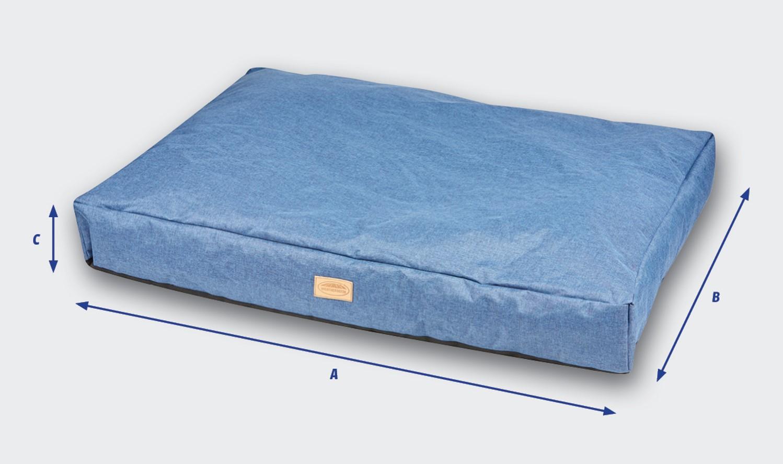 weatherbeeta pillow denim dog bed size guide