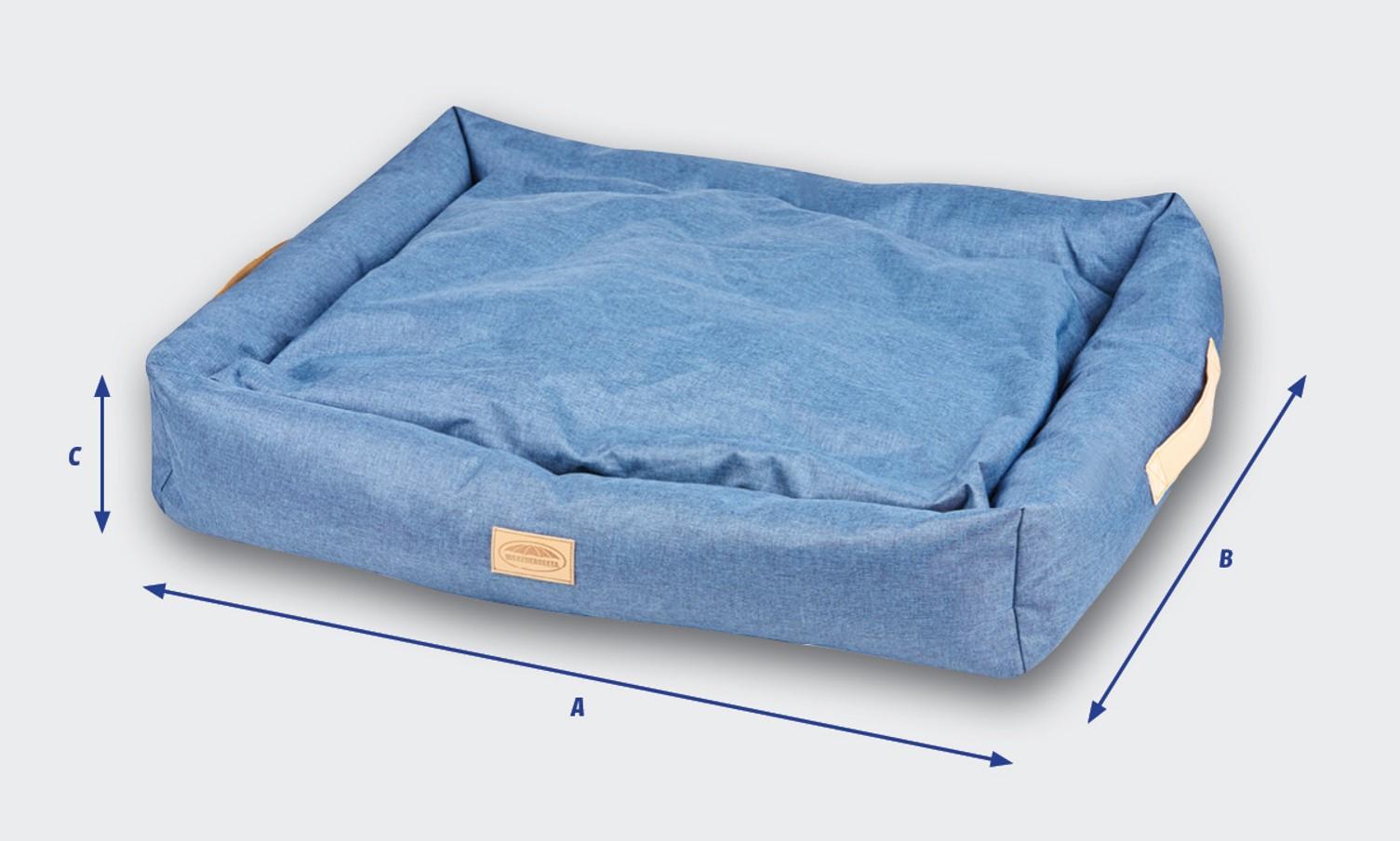 weatherbeeta square denim dog bed size guide