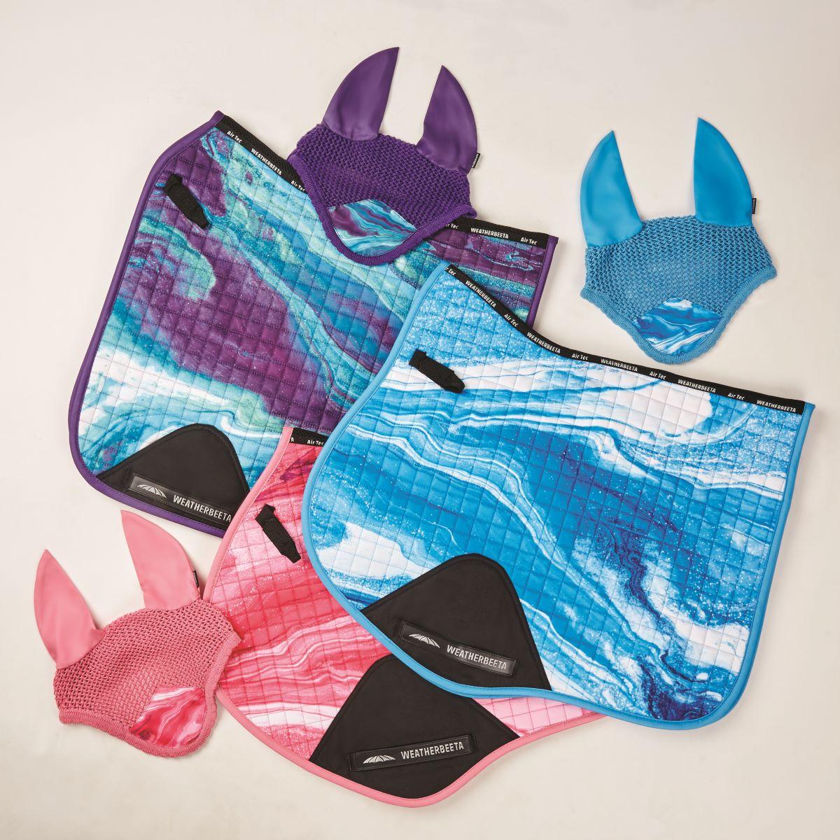 weatherbeeta marble print saddle pads