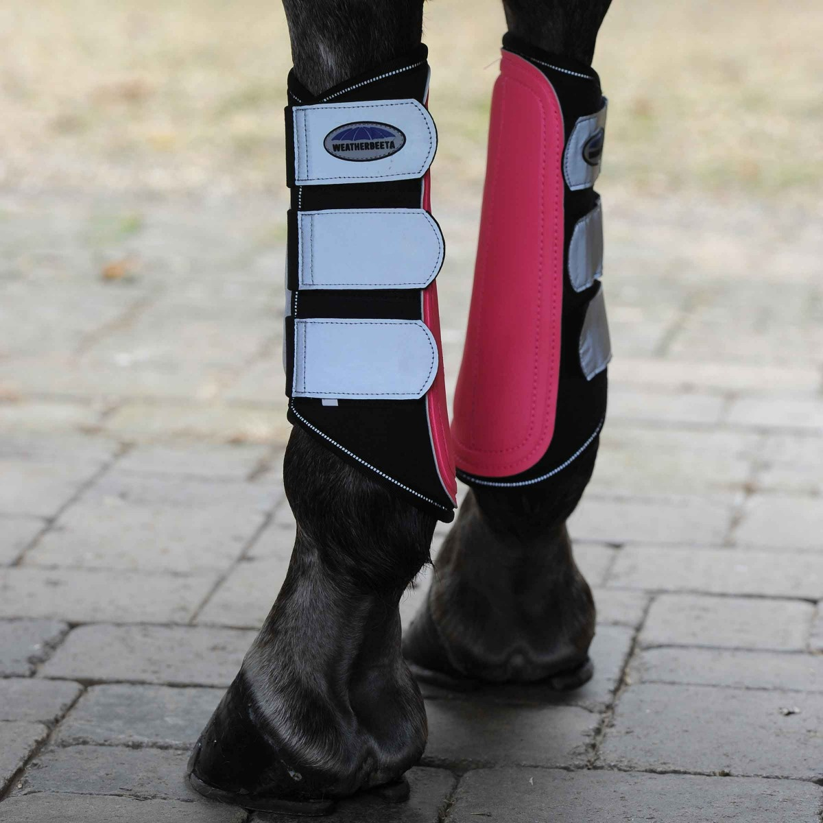 weatherbeeta reflective single lock brushing boots